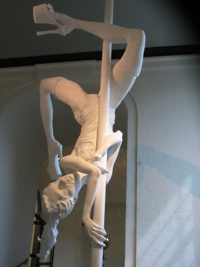 Sculpture of Pole Dancer