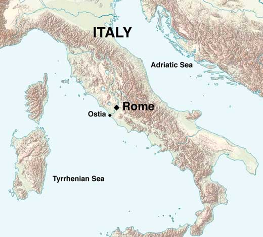 Ostia Map