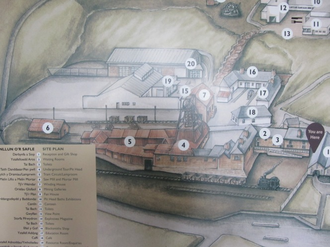 A site map of the coal mine