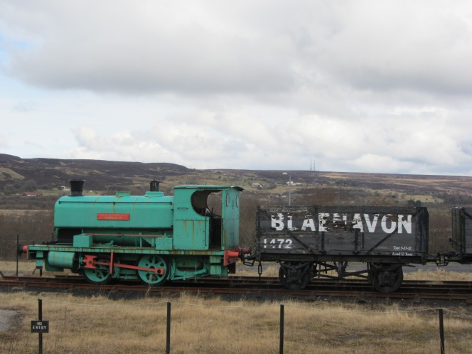 The trains that transported the coal