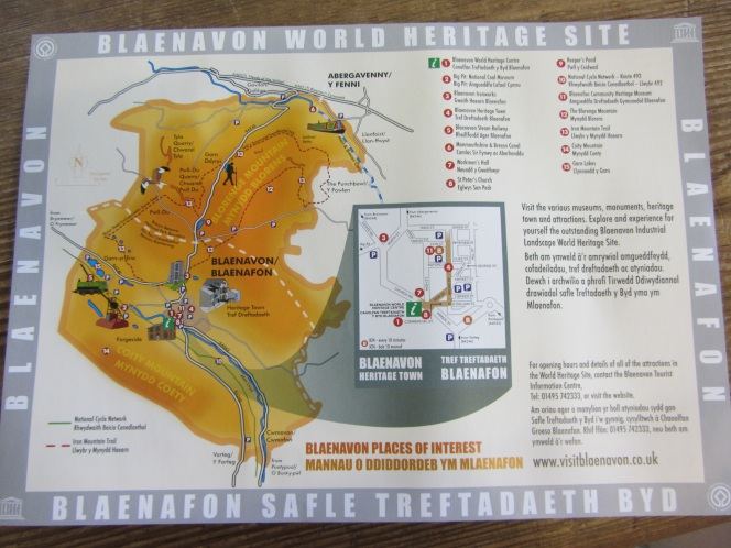 A site map of the area