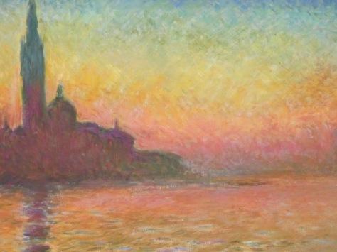 Claude Monet's San Giorgio Maggiore by Twilight
