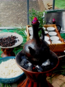 "A coffee ceremony which is so Ethiopian and so unique, that it requires having its very own unique coffee pot ""Jebena"" to roast the coffee beans right on the spot so that Ethiopians' most valued guests can capture the real essence of Ethiopia."