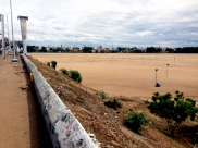 View of Kalaveri from one of two bridges that surround the island of Srirangam.