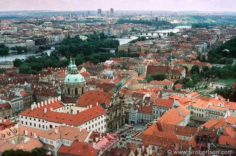 Rooftop View from Prague Castle, Czech Republic Source:  http://www.slrobertson.com