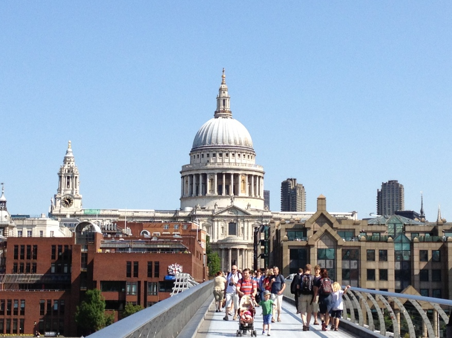 St. Paul's as seen from the Millenium Bridge