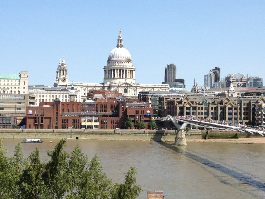The view from the balcony at Tate Modern