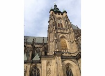 The gothic exterior of Prague Castle.