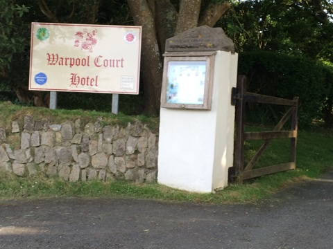 Entry to Warpool Court Hotel