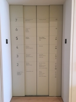 Ever get lost in museums trying to find a collection? Prime real estate on elevator doors gets converted into guide maps!