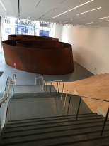 "The magnificent Richard Serra sculpture ""Sequence"" set up beautifully."